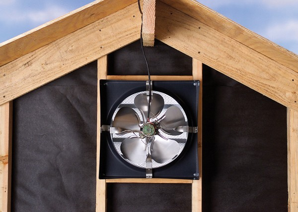 A picture of an attic fan.