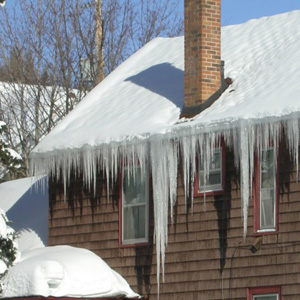remove ice dam in gutters