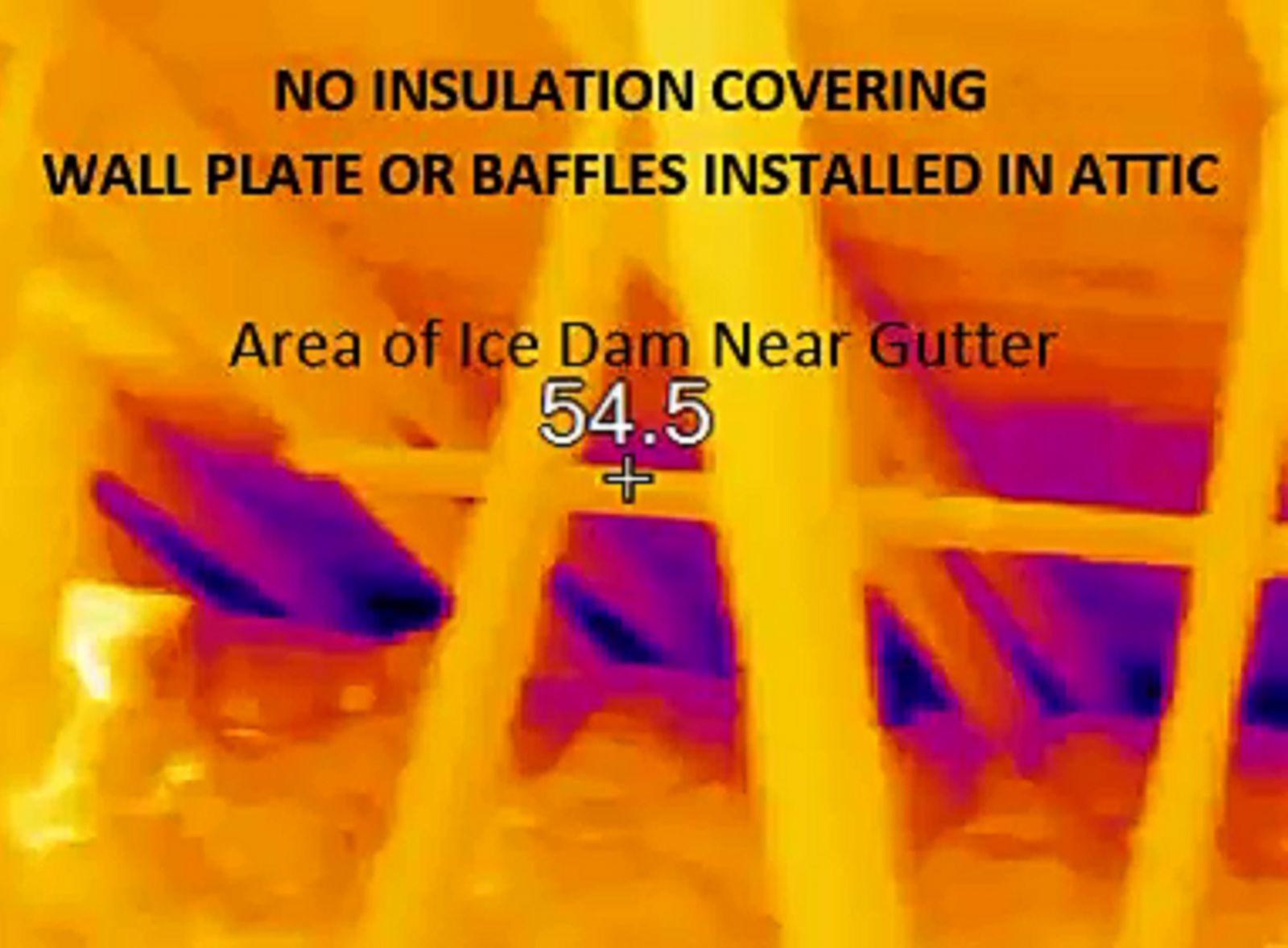 No insulation covering wall plate or wind baffles installed