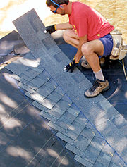 A row of shingles 2