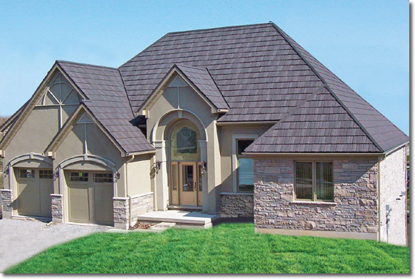 New metal roofs add character and appeal to old homes for Pictures of homes with metal roofs