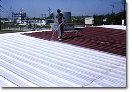 reflective roofing material